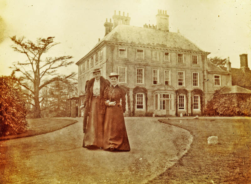 Forty Hall in Victorian times. The Cedar of Lebanon is clearly visible, but no mulberry (unless it's behind the bush).