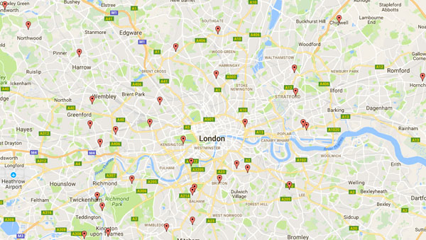 Some of the locations where the first mulberry saplings are being planted
