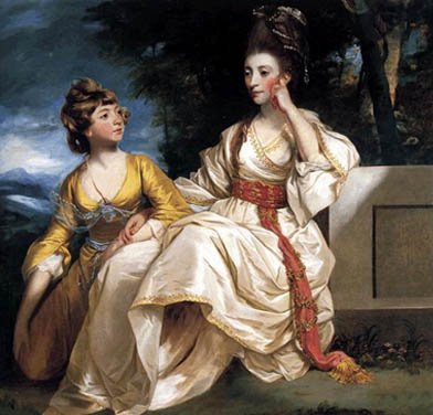 Hester Thrale and her daughter, Hester, by Sir Joshua Reynolds, c1777. Now in the Beaverbrook Art Gallery, New Brunswick, Canada.