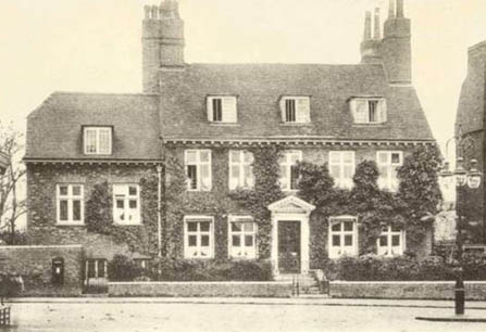 Ladywell Vicarage in 1894, after a wing was added on the left