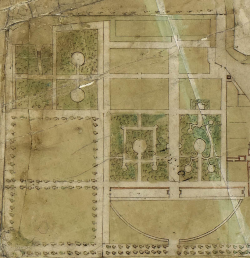 Map of Sayes Court Garden in 1692.